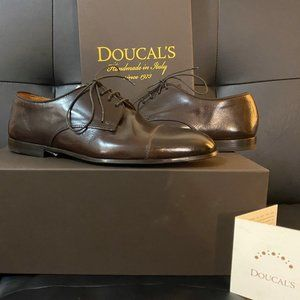 Doucal's Mens Brown Leather Dress Shoes Oxford 39